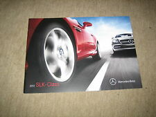2012 mercedes slk-clase SLK-class r172 EE. UU. folleto brochure, 20 páginas