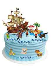Per Bambini Pirata Scena wafer commestibile Premium Carta Cake Topper Decorazione (Uncut)