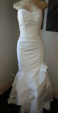 $500 ANAISS ON WEDDING TAFFETA SWEETHEART MERMAID GOWN SIZE 4