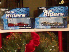 2007 hot wheels REAL RIDERS 67 camaro,06camaro and 70challenger,06challenger