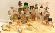 MIX LOT SMALL ANTIQUE PERFUME BOTTLES VINTAGE MINIATURE GLASS APOTHECARY DECO GC