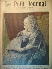 ANGLETERRE ROYAUME-UNI JUBILE DE LA REINE VICTORIA LE PETIT JOURNAL 1897