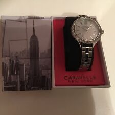 CARAVELLE New York Carla Donna Crystal in Acciaio inossidabile Color Argento Watch 43l165