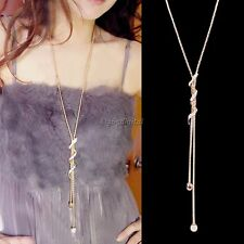 Neuf Or Long Pendentif Vintage Bijoux Pull Collier Chaîne Femmes Mode