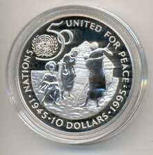 Namibia 50th Anniversary United Nations Silver 10 Dollars 1995 Proof