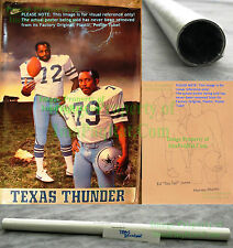 "NITF Factory SEALED NIKE Ed ""TOO TALL"" Jones Dallas Cowboys TEXAS THUNDER Poster"