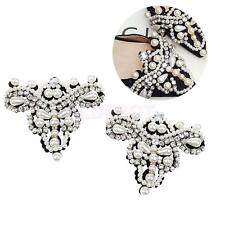 Pair Sewing On Pearl Rhinestone Applique For DIY Wedding Dress Shoe Clips