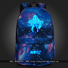 Luminous Anime Hatsune Miku Starry sky Backpack Travel Shoulder bag Schoolbag