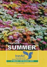 Iran Air Timetable  March 27, 2005 =