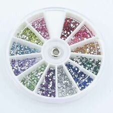 1.5mm ROUND RHINESTONE DIAMANTE WHEEL nail art shapes crystal decoration