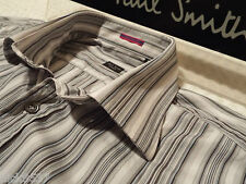 """PAUL SMITH Mens Shirt �� Size 16"""" (CHEST 42"""") �� RRP £95+ �� SUPERBLY STRIPED"""