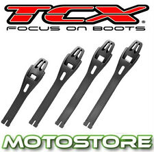 TCX REPLACEMENT 4 POLYURETHANE BUCKLES STRAPS X-MUD / DUNE / TRACK -BLACK SET