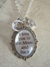 """Le madri giorno I Love You per la luna e ritorno Charm 18 """"collana nuovo in Borsa Regalo"""