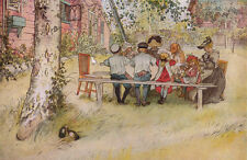 Breakfast under the Big Birch   by  Carl Larsson   Giclee Canvas Print Repro