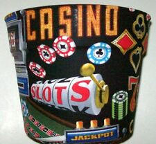 CASINO SLOTS DICE CHIPS THEMED PLANTER FLOWERPOT PARTY GIFT BASKET CONTAINER