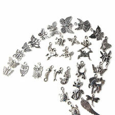 Wholesale 100pcs Bulk Lots Tibetan Silver Mix Charm Pendants Jewelry DIY BMBM