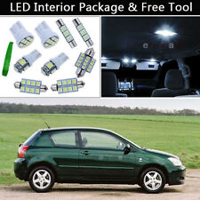 6PCS White LED Interior Car Lights Package kit Fit 1998-2002 Toyota Corolla J1