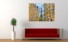 EIFFEL TOWER PARIS HOUSES NEW GIANT LARGE ART PRINT POSTER PICTURE WALL