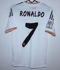 Real Madrid Spain home shirt 13/14 #7 Ronaldo Adidas BNWT KIDS Size M