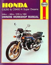 Haynes Manual 0540 - Honda CB250N & CB400N Super Dreams (78 - 84) service/repair