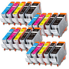 20 Pk Printer Ink With Chip for Canon PGI-5BK CLI-8 Pixma MP600 MP800 830 MX850