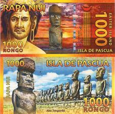 Easter Island, 1000 Rongo, stone heads (Moa) POLYMER