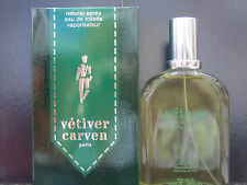 Vetiver ( Original Version ) by Carven For Men 3.3 oz Eau de Toilette Spray Rare