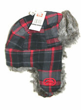 MENS ECKO UNLTD RHINO PLAID FAUX FUR TRAPPER BEANIE HAT CAP