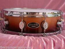 "PDP PACIFIC by DW MX SERIES 14"" SNARE DRUM in TOBACCO BURST FOR SET LOT #M10"