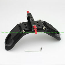 Folding Shoulder Pad Rod Clamp Mount Kit fr Follow Focus DSLR 15mm Rail System