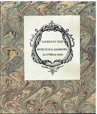 Satires en vers - Musiciens & danceurs du XVIIIème siècle - Emil Raunié -