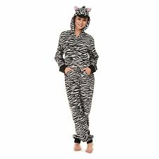 FRENCH JENNY Zebra Ladies Hooded/ Footed Pajama  SZ XXL NWT FREE SHIPPING