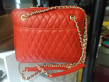 BORSA VERA PELLE MODELLO CHANEL ROSSA - BAG GENUINE LEATHER RED