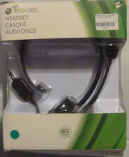 OFFICIAL Microsoft XBox 360 Communicator Microphone Headset BLACK OEM Live Slim