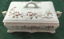 Amazon Tureen w/lid Ant Henry Alcock & Co England Semi Porcelain 11 Long Flowers