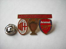 a1 ARSENAL - MILAN cup uefa champions league 2008 spilla football pins