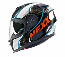 NEXX X.T1 Raptor White Orange XXL XT1 Carbon Motorcycle Helmet 2XL -(CLOSEOUT)-