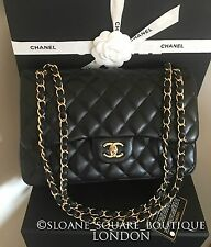 "Chanel Black 11.8"" Quilted Lambskin Large Classic Jumbo 2.55 Double Flap Bag GHW"