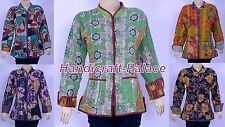 10 PC VINTAGE COTTON KANTHA WOMEN JACKET / COAT REVERSIBLE QUILTED WHOLESALE LOT