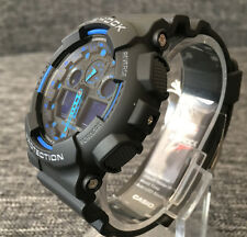 CASIO G SHOCK GA-100-1A2ER BLACK & BLUE ANALOG & DIGITAL WR 200M BRAND NEW