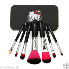 Hello Kitty Pink or Black Makeup Brush Kit With hard case lip face shader