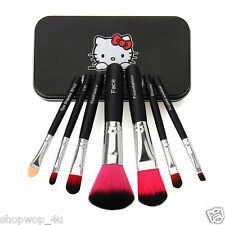 HELLO Kitty Rosa o Nero Makeup Brush Kit con CUSTODIA RIGIDA LABBRA VISO shader