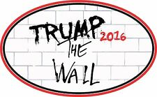 TRUMP STICKER THE WALL WINDOW BUMPER STICKER