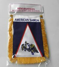 AMERICAN SAMOA MINI POLYESTER INTERNATIONAL FLAG BANNER 3 X 5 INCHES