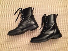 Marc Jacobs Black Leather Combat Boots Sz. EU 40