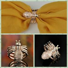 Fashion Clothes Accessories Littie Bee Scarf Buckle Brooch Beautiful Art Deco