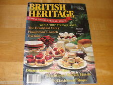British Heritage Magazine Apr May 1987 Food & Drink Special Issue