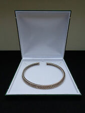 Statement Necklace Italian Sterling Silver Double Cable Rope Collar Choker