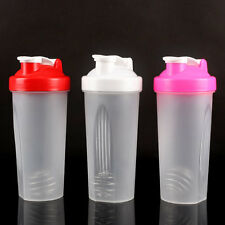 600ml Shake Gym Protein Shaker Mixer Cup Potable Whisk Bottle Sports Travel