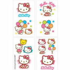 16 Hello Kitty Balloons Sanrio Tattoos (8 squares) Party Favors Teacher Supply